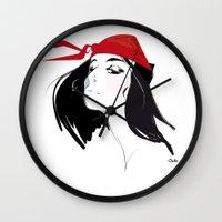 Elektra after Gruau Wall Clock