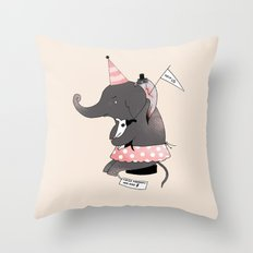Circus is not funny for animals Throw Pillow