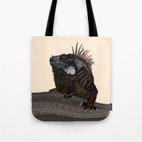 iguana ecru Tote Bag