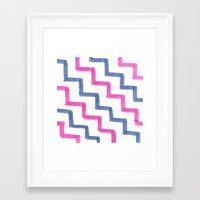 Framed Art Print featuring Missoni Stairs by Sally Eyeballs