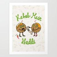 Kebab Mein Haddi Art Print
