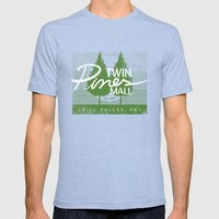 Twin Pines Mall Mens Fitted Tee Tri-Blue SMALL