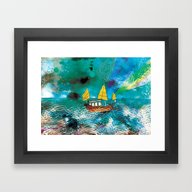 Come And Sail With Me Th… Framed Art Print