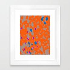Orange Dot Framed Art Print