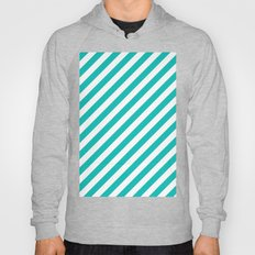 Diagonal Stripes (Tiffany Blue/White) Hoody