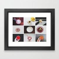 Morning stories - SMOOTHIE set Framed Art Print