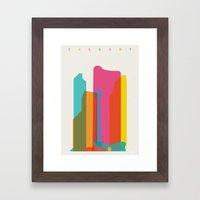 Shapes Of Calgary Framed Art Print