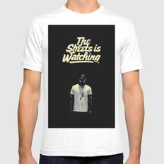 The Streets is Watching Mens Fitted Tee White SMALL