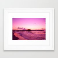 Sunrise at Apache Pier Myrtle Beach Framed Art Print