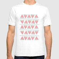 watermelon repeat Mens Fitted Tee White SMALL