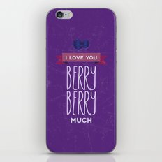 I love you berry berry much iPhone & iPod Skin
