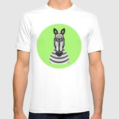 Zebra White SMALL Mens Fitted Tee