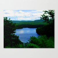 Canvas Print featuring Lake by Denice Michalek