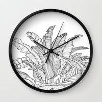 Palm Beach - Black And W… Wall Clock