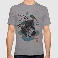 Vintage Camera Hasselbla… Mens Fitted Tee Athletic Grey SMALL
