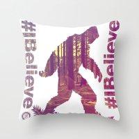 #Ibelieve Big Foot Throw Pillow