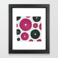 Sea's Design - Urchin Sk… Framed Art Print