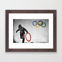 Banksy Olympic Rings Framed Art Print