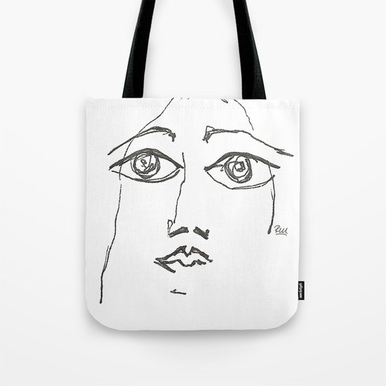 Woman gazing Tote Bag