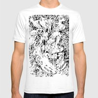 Flowing Obsessions Mens Fitted Tee White SMALL