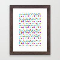 Retro pattern pencil  Framed Art Print