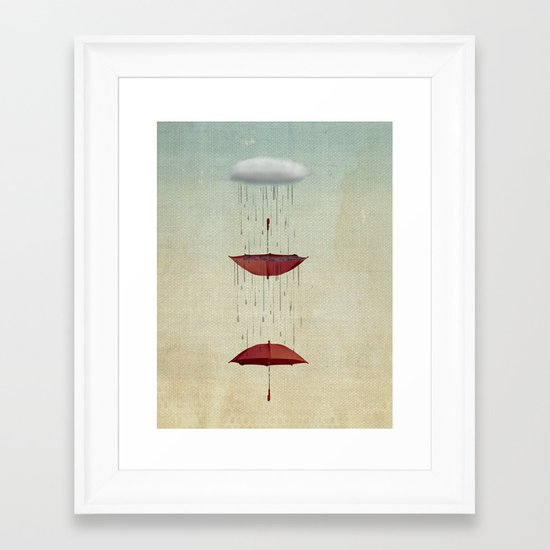 the umbrella runneth over and over Framed Art Print