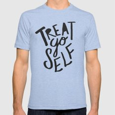 Treat Yo Self Mens Fitted Tee Tri-Blue SMALL
