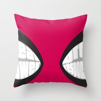 Spider-man Eyes Throw Pillow