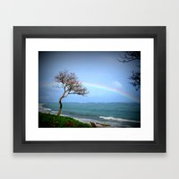Kauai Rainbow Framed Art Print