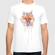 Bonjour Fox!! White SMALL Mens Fitted Tee