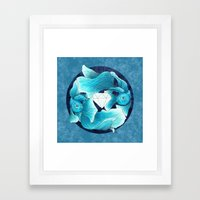 underwater guardians - fishes Framed Art Print