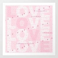 L.O.V.E Art Print