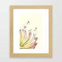 Pincushion Botanical Pri… Framed Art Print