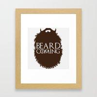 The Beard Collection - Beard is Coming Framed Art Print