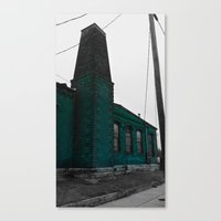 Building With Altered Color Canvas Print