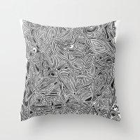 b/w pattern Throw Pillow