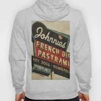 Johnnie's French Dip Pastrami Vintage/Retro Neon Sign Hoody