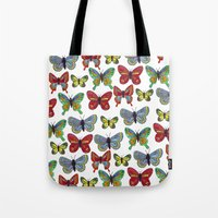 Flutterby Butterfly Tote Bag