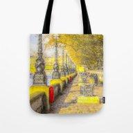 River Thames Path Waterc… Tote Bag