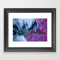 Thinking Of Plum Framed Art Print