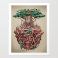 tree land Art Print