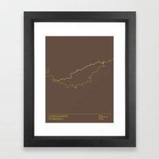 Le Tour De France 2013 Stage 5 Minimal Poster Framed Art Print