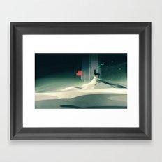 Winter in a dark world Framed Art Print
