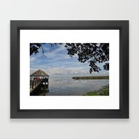 Water Landscape Scene Re… Framed Art Print