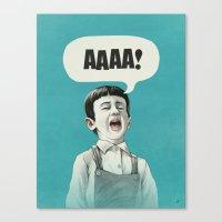 AAAA! (Blue) Canvas Print