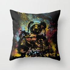 giant panda bot attack Throw Pillow
