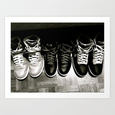 FRESH KICKS B&W Art Print