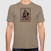 My Uncle Sam Mens Fitted Tee Tri-Coffee SMALL