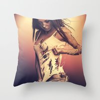 Fractured 01 Throw Pillow