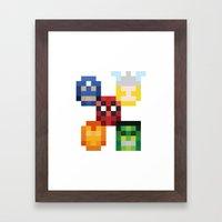 Five Heroes Framed Art Print